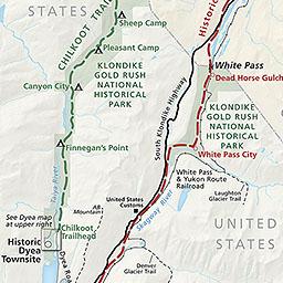 Klondike Gold Rush Maps - Klondike Gold Rush National