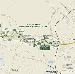 Maps Minute Man National Historical Park US National Park - Map of us national park historical sites