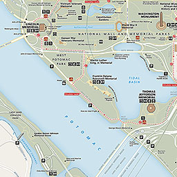 Maps National Mall And Memorial Parks US National Park Service - Washington dc on map of us