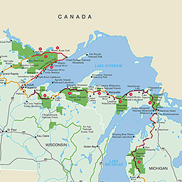 Maps North Country National Scenic Trail US National Park - Country maps