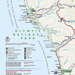 Maps Olympic National Park US National Park Service - National parks in us map