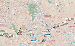 Maps Oregon National Historic Trail US National Park Service - Map of wyoming cities