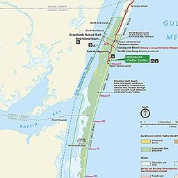 Padre Island National Seas Map | Asdela on