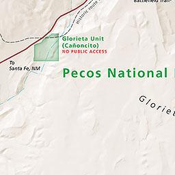 Maps Pecos National Historical Park US National Park Service - Map os us national historical parks