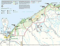 Picture Rocks Michigan Map.Maps Pictured Rocks National Lakeshore U S National Park Service