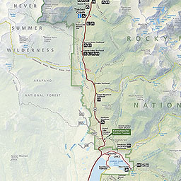 Maps Rocky Mountain National Park US National Park Service - Western us ski resorts map