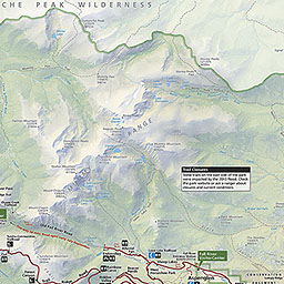 Maps Rocky Mountain National Park US National Park Service - Mountain map of us
