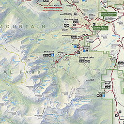 Maps Rocky Mountain National Park US National Park Service - Us map with nountains
