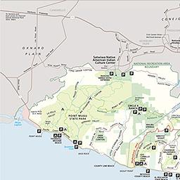 Maps Santa Monica Mountains National Recreation Area US - Mountains on us map