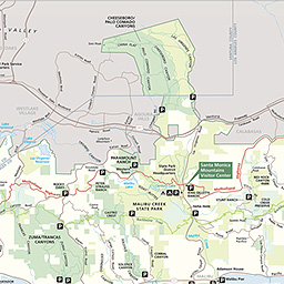 Places To Go Santa Monica Mountains National Recreation Area - Map of mountains in us