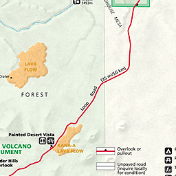Maps Sunset Crater Volcano National Monument US National Park