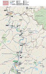 Maps Upper Delaware Scenic Recreational River US National - Delaware river on us map