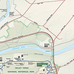 Valley Forge Park Map Maps and Brochures   Valley Forge National Historical Park (U.S.  Valley Forge Park Map