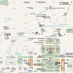 Maps Washington Monument US National Park Service - Us map of dc