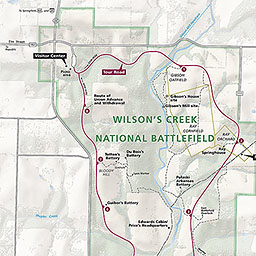 Maps Wilsons Creek National Battlefield US National Park Service