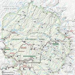 Maps Yosemite National Park US National Park Service - Yosemite national park on us map
