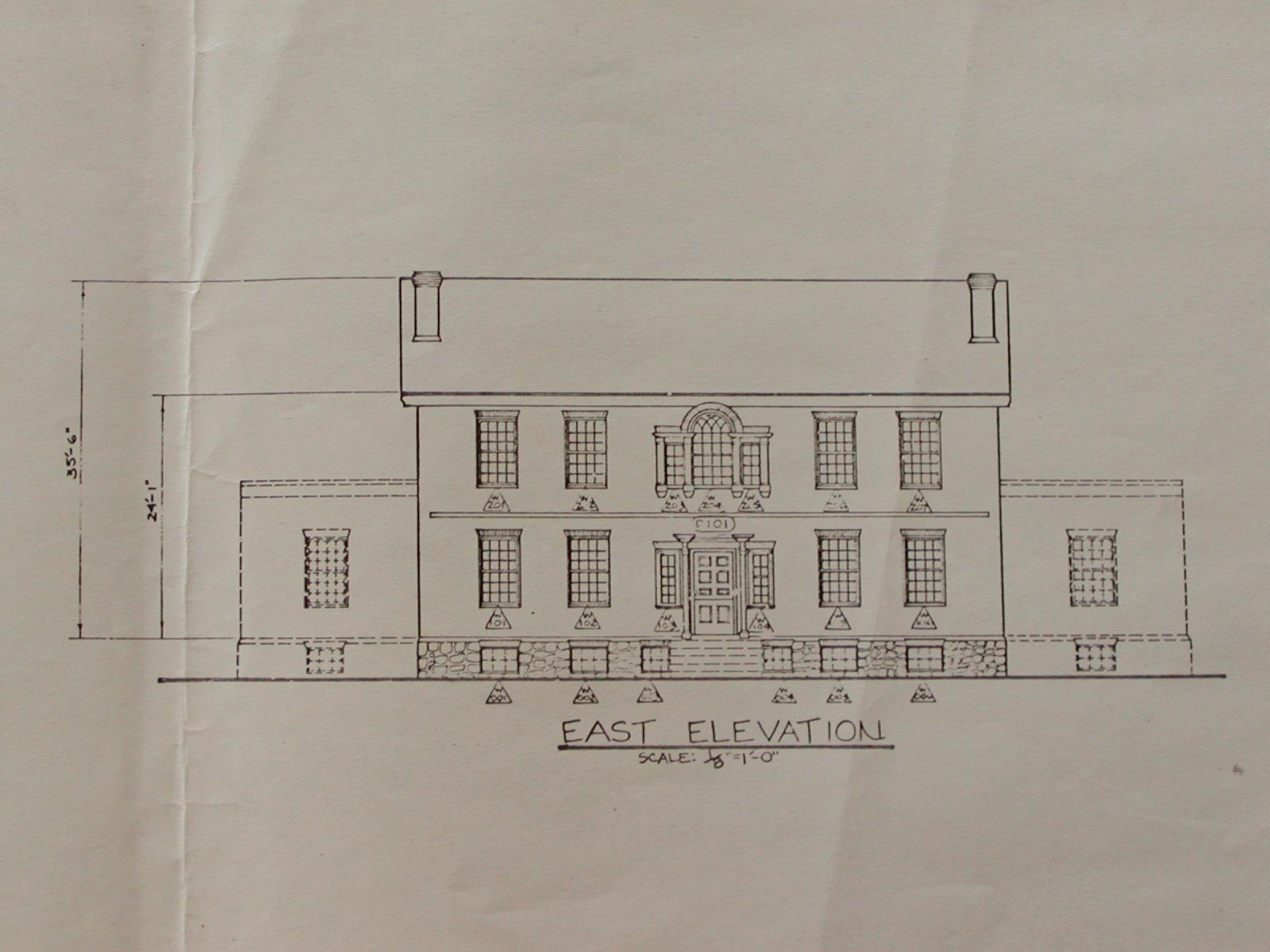 East Elevation of Lindenwald
