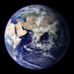 Image of the planet earth from space