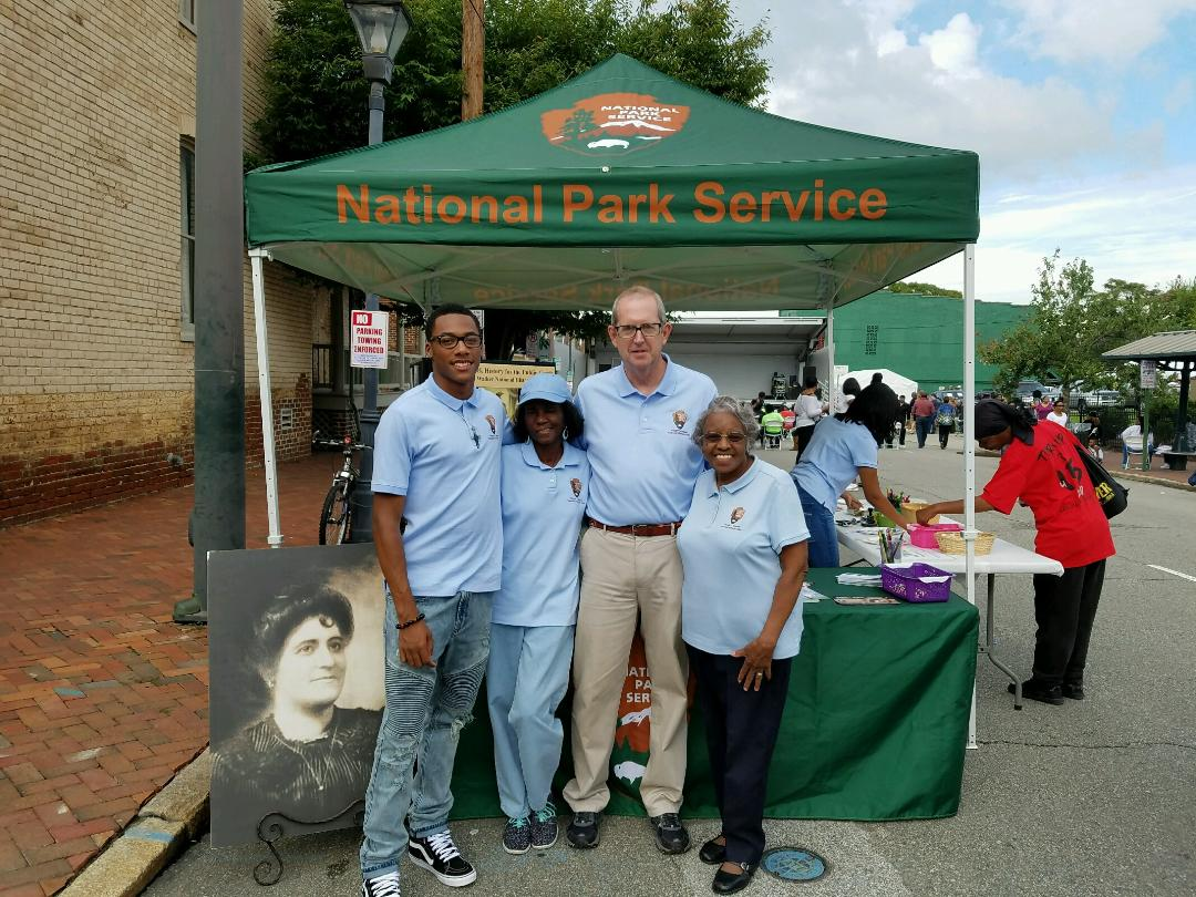 Volunteers at the Maggie L. Walker National Historic Site during the 2016 2nd Street Festival