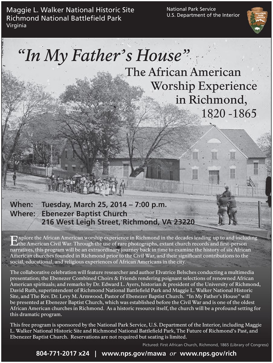 """In My Father's House"" informational flyer"