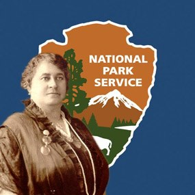 Maggie L. Walker with National Park Service Arrowhead