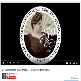 Video Still of Maggie L. Walker from 150th Birthday Celebration Program