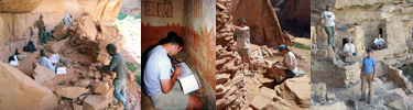 Archeologists working in Ancestral Puebloan sites