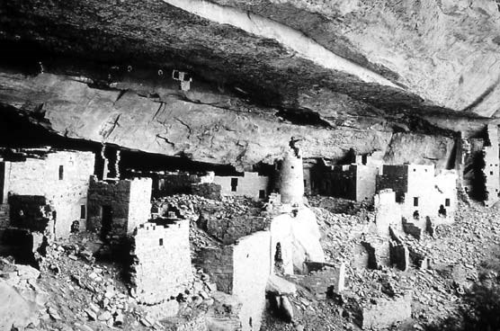 Cliff Palace in 1899 before excavation and stabilization