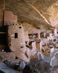 View of Cliff Palace from within alcove