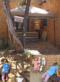 Mesa Verde Junior Ranger Station with kids participating in games and activities.