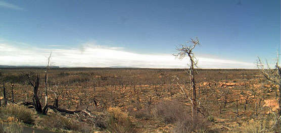 View to the southwest from dust monitoring webcam.