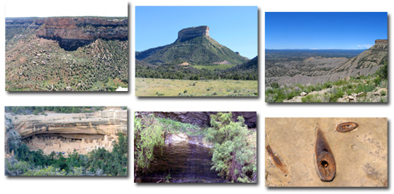 Images showing a variety of geologic features.