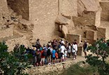 Ranger presenting tour to visitors in Cliff Palace