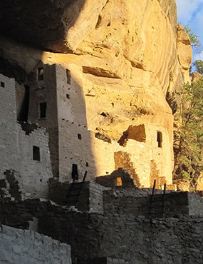 Cliff Palace in twilight