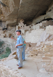 CCC (Civilian Conservation Corps) boy at Cliff Palace