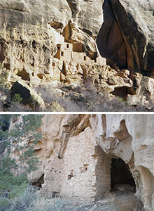 Two images of sites on the Upper Navajo Canyon trail.