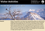 Front page of winter visitor guide publication