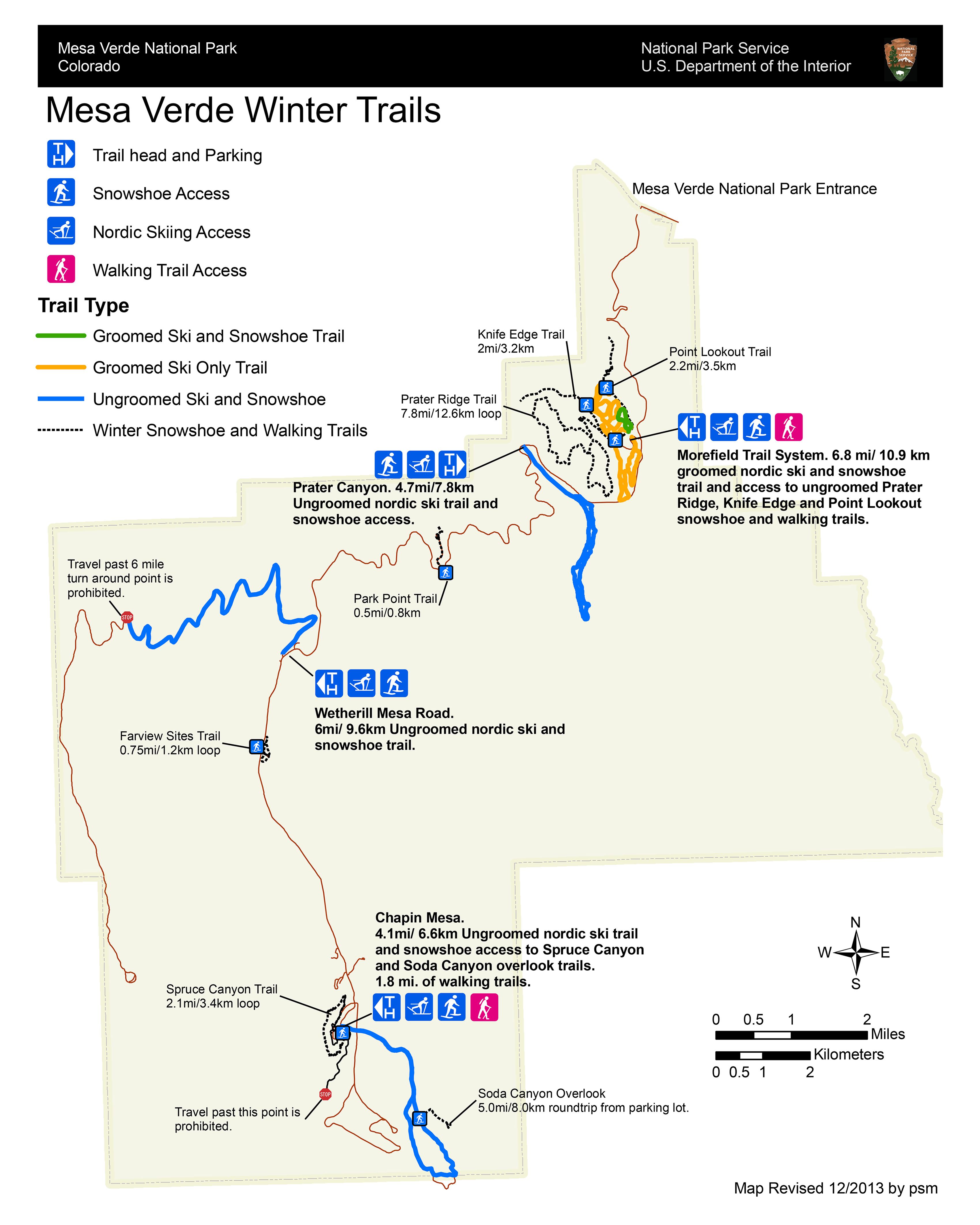 Winter Activities CrossCountry Skiing and Snowshoeing Mesa Verde