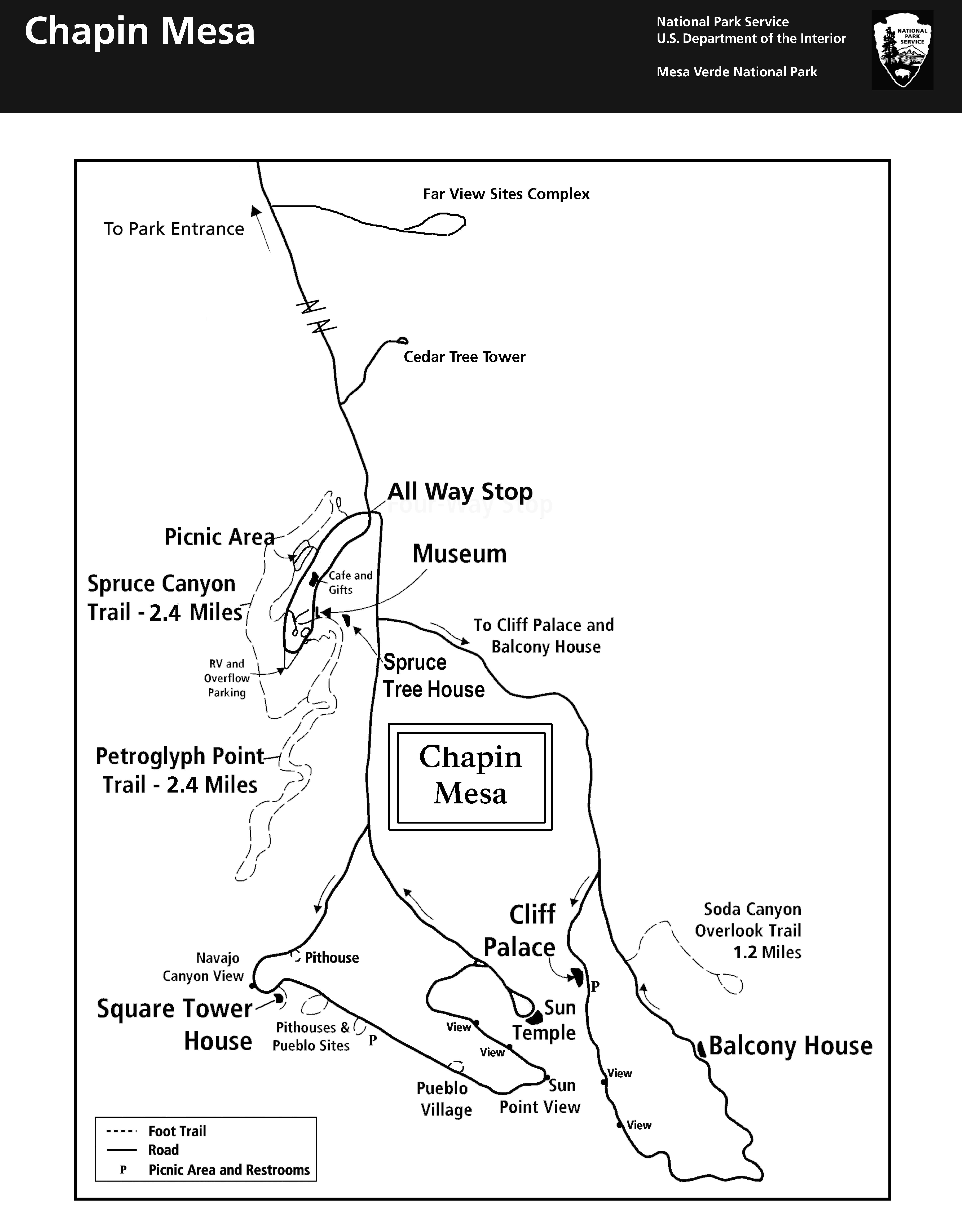Maps - Mesa Verde National Park (U.S. National Park Service)