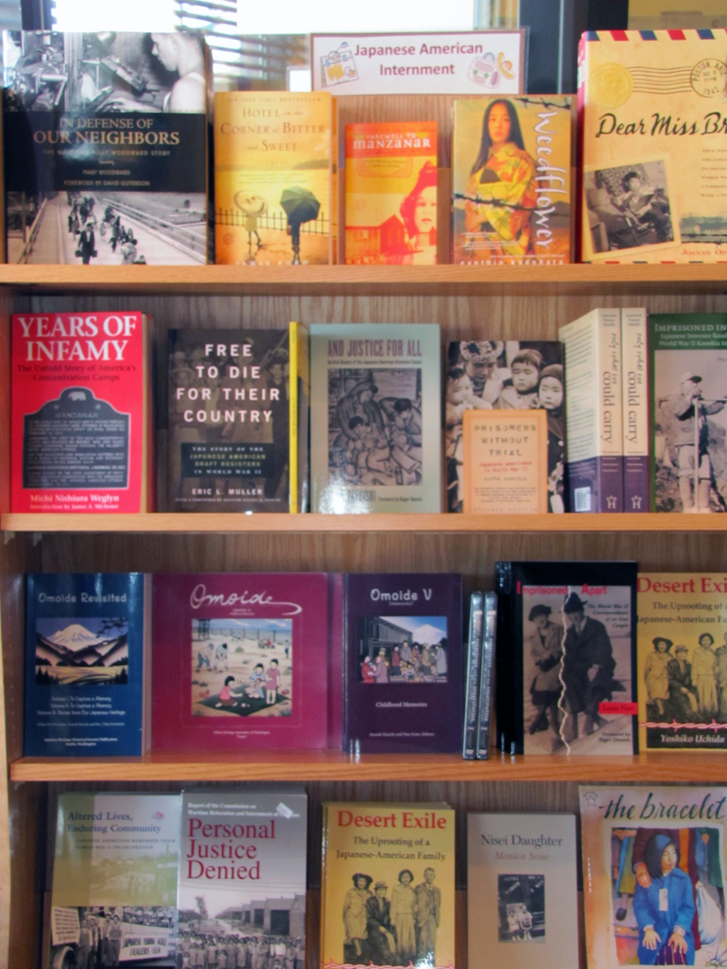 View of some of the Minidoka books available for purchase.