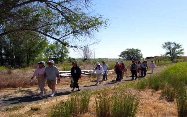 Visitors walk along the interpretive trail during the 2012 Annual Minidoka Pilgrimage.