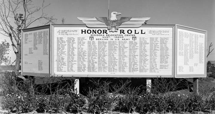 Honor Roll as it looked in 1943