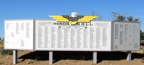 The reconstructed Honor Roll at Minidoka NHS