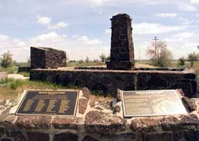 View of Minidoka plaques