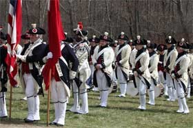 Fife and drum corps at Meriam's Corner