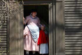 Whittemore House with living history volunteers