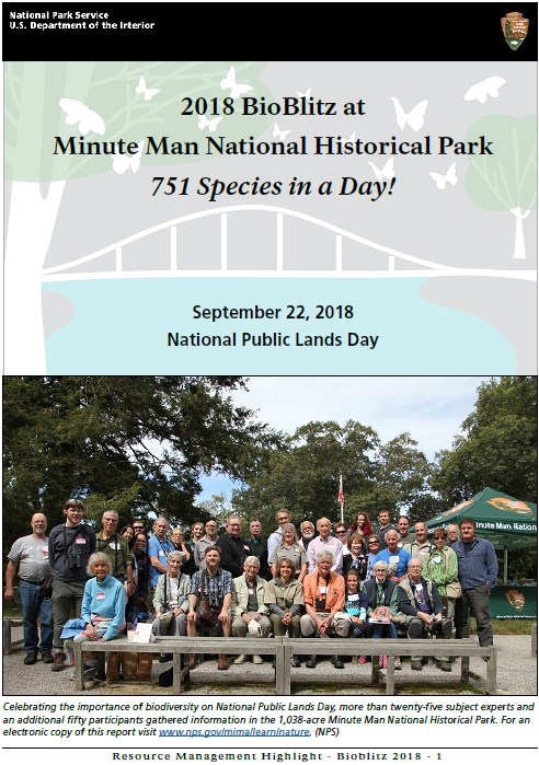 Results of the 2018 BioBlitz at Minute Man NHP
