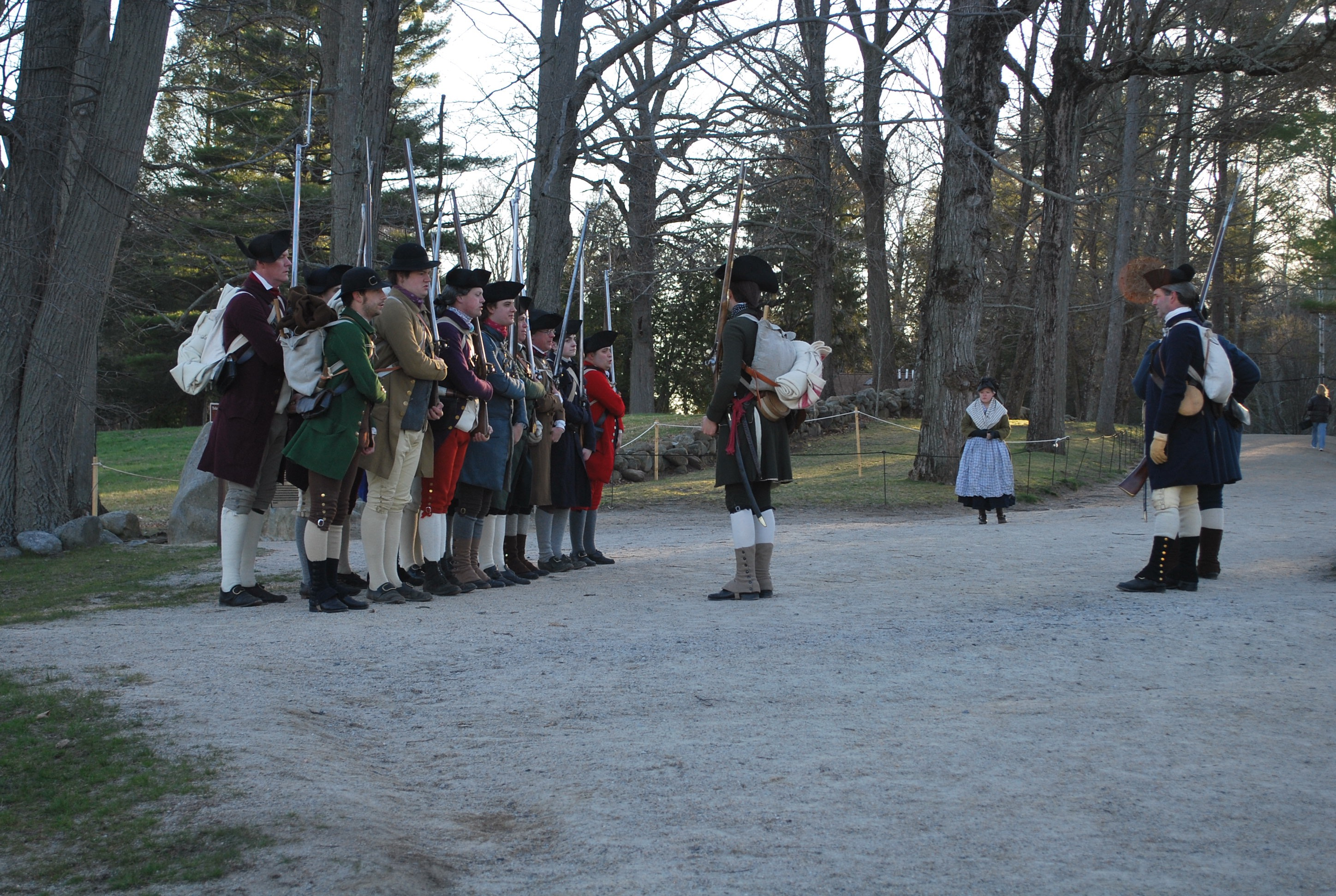 Patriot's Weekend at Minute Man National Historical Park, featuring Captain Brown's Company.