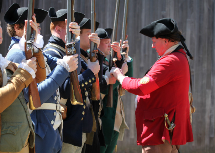 NPS Black Powder Safety Officer inspects colonial militia
