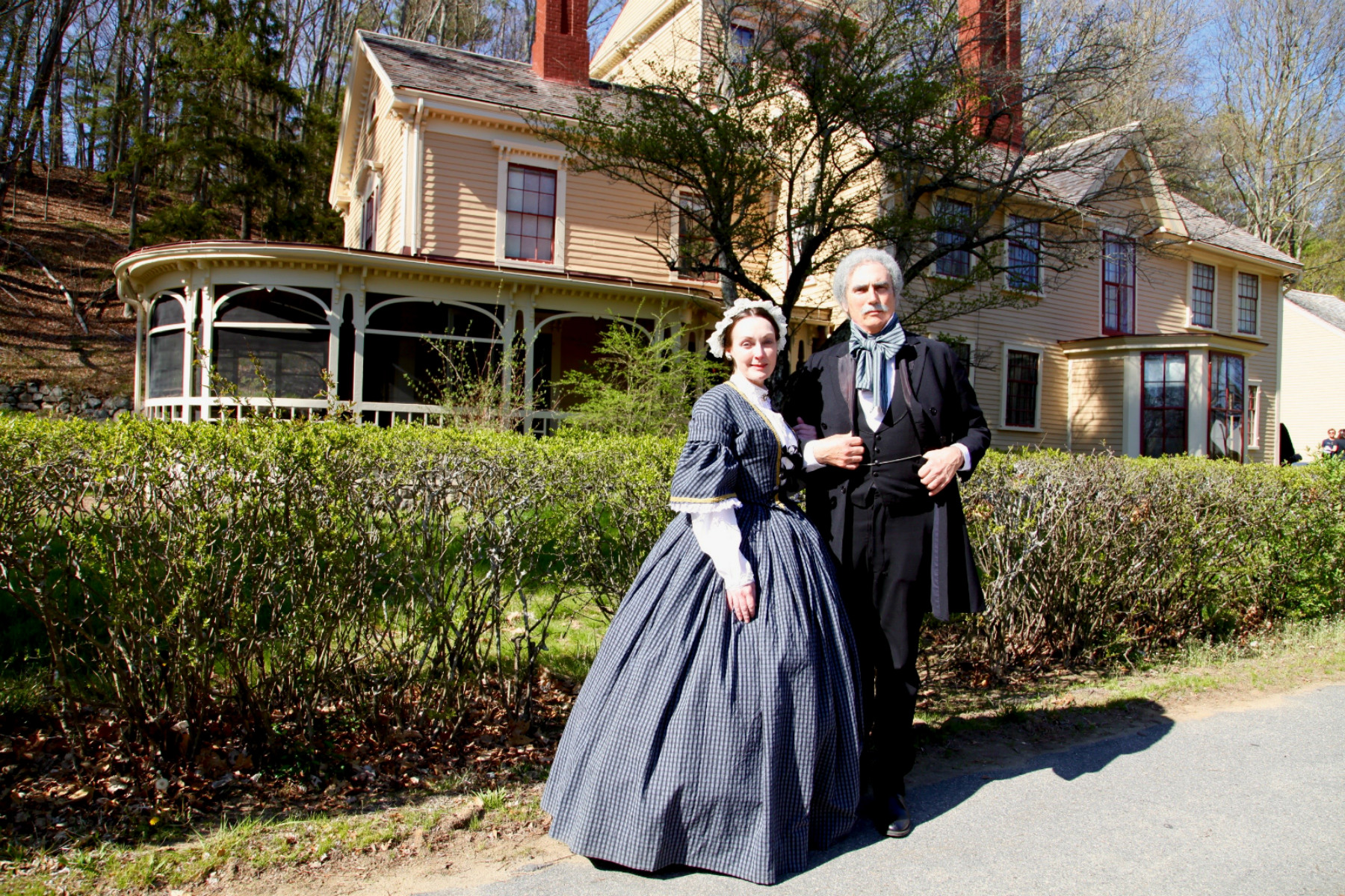 Sophia and Nathaniel Hawthorne welcome you to The Wayside